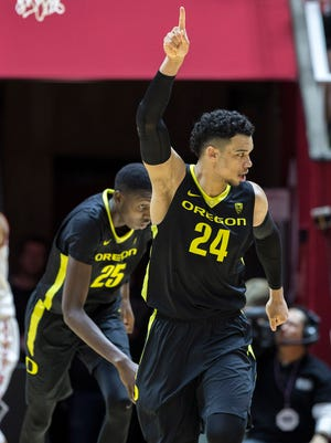 Oregon forward Dillon Brooks is averaging 16.2 points, 6.5 rebounds and 3.1 assists a game for the Ducks.