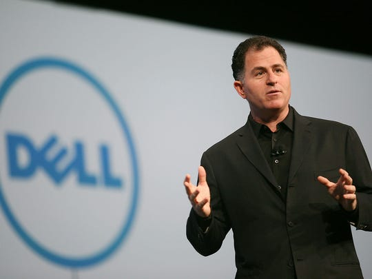 Dell Chairman and CEO Michael Dell delivers a keynote address during the Oracle OpenWorld event at the Moscone Center on Oct. 4, 2011, in San Francisco.
