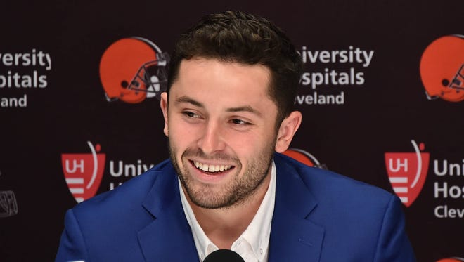 After winning the Heisman Trophy at Oklahoma, quarterback Baker Mayfield was selected first in the NFL draft by the Cleveland Browns.