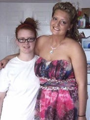 Samantha Ramsey, right, died April 26, 2014.