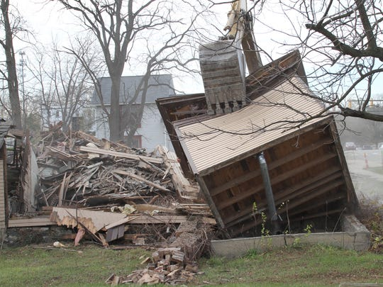 A room of the 122 North Street residence is rolled