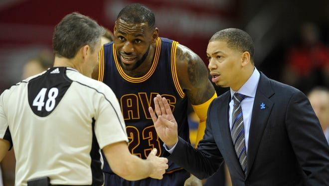 Cleveland Cavaliers forward LeBron James (23) and head coach Tyronn Lue know the effort needs to be better if this team is going to win a title.