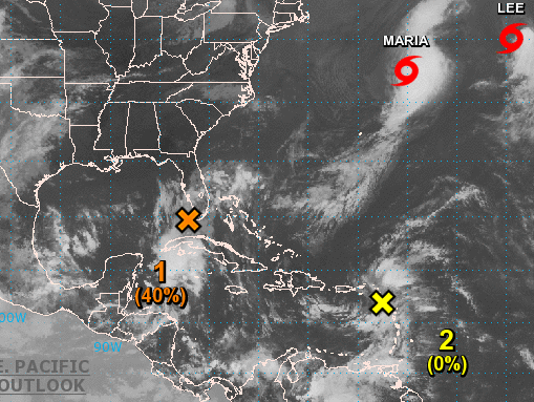 Tropical weather map