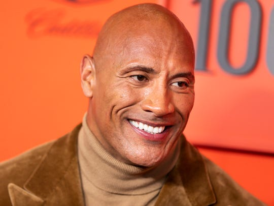Actor Dwayne Johnson arrives for the annual Time 100 Gala at the Frederick P. Rose Hall at the Lincoln Center.