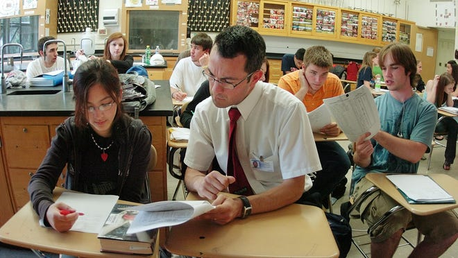 Fairport High School science teacher Rich Ognibene was named New York State teacher of the year in 2008.