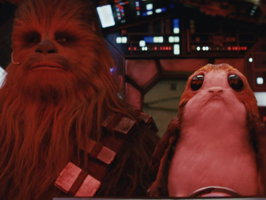 "Here's hoping Chewbacca and porgs show up in a ""Star Wars: Episode IX"" trailer."