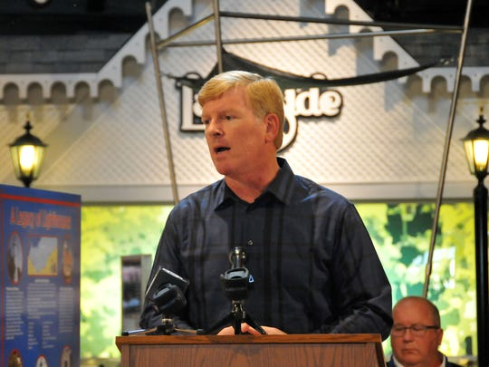 Kevin Sibbring, president and CEO of Lakeside Chautauqua, speaks at a press event in 2015 on Lake Erie's toxic algal blooms and its effects.