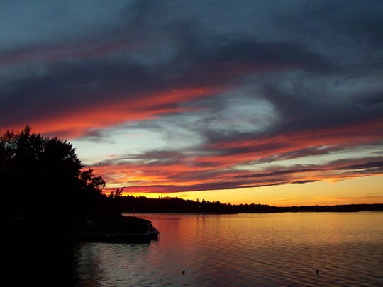 The sun sets over Lake Kabetogama in Minnesota's Voyageurs