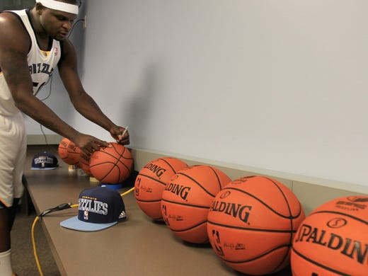 October 1, 2012 -  Memphis Grizzlies Zach Randolph