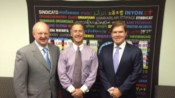 From left: Thomas Wilmot Sr., Peter Ward and Thomas Wilmot Jr.