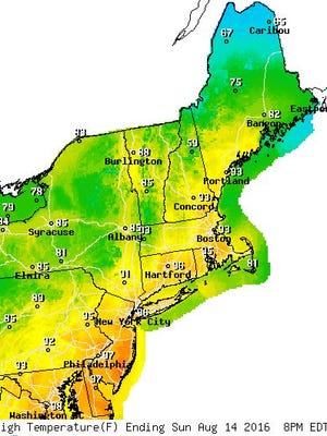 The National Weather Service issued the excessive heat warning through Tuesday night.