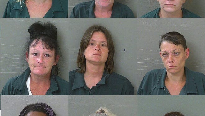 Nine people were arrested in an Escambia County Sheriff's Office prostitution sting last week, according to arrest reports.