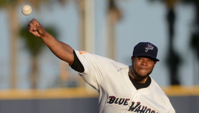 Daniel Corcino had a rough night Wednesday against the Mobile BayBears.