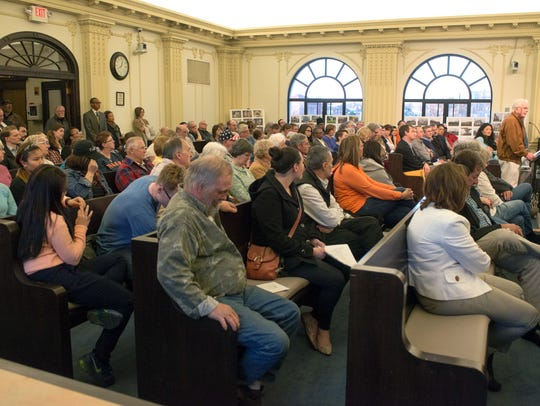 Residents flood City Commission chambers Tuesday night