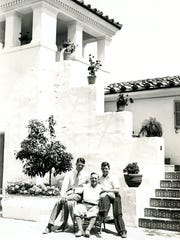 Harold Hicks, Alvah Hicks and Milt Hick at Villa Theresa