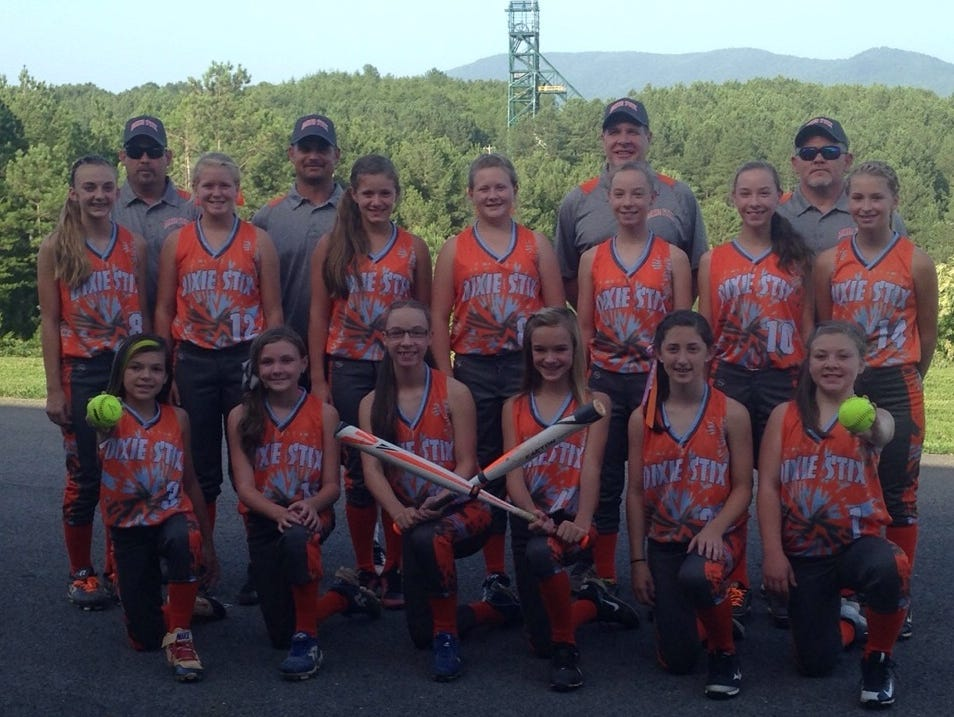 The Dixie Stix 12 and under softball team.