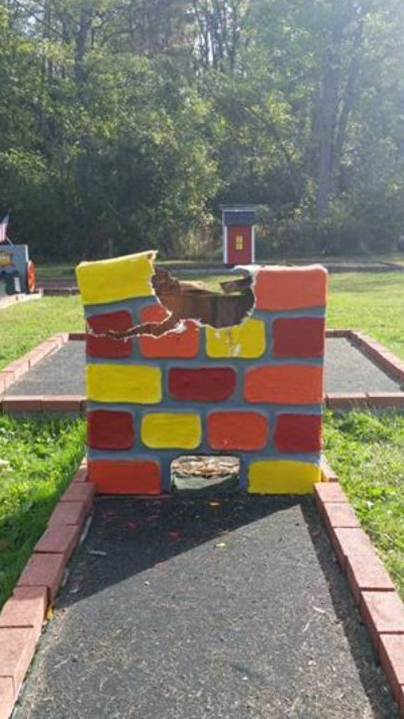 The Humpty Dumpty figure was stolen from the Spruce Row golf course Sept. 26. It was recovered at RIT.