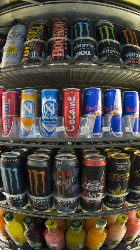 Cans of energy drinks are displayed in a store in San Diego, Calif. (Photo: AFP/Getty Images)