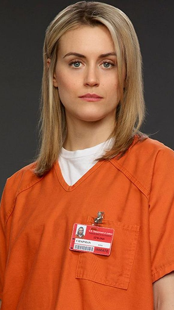 """Taylor Schilling in """"Orange Is the New Black."""""""