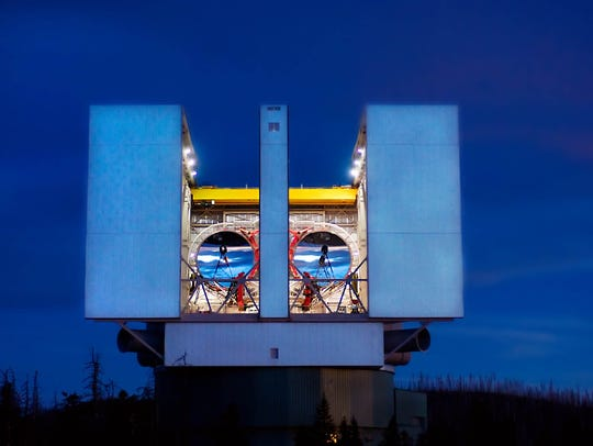 Mount Graham International Observatory houses the world's