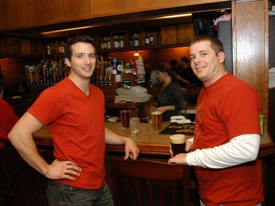 At DG's Taphouse Mike Cowan, 29, and Garrett Christensen, 27.