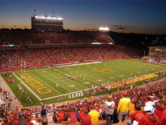 More than 40,000 fans filled Jack Trice Stadium Thursday night during the Iowa State Cyclones home opener.