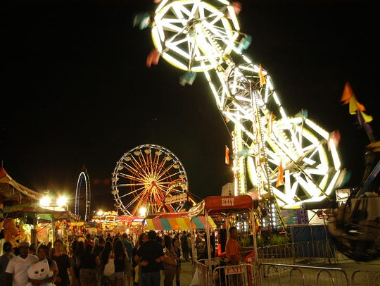 The Midway at the Iowa State Fair is a cacophony of