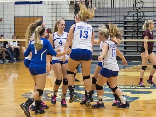 The McConnellsburg girls volleyball team begins District
