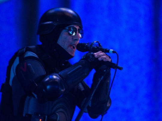 Maynard James Keenan of Tool performs at the Giant Center on Thursday, May 25, 2017.