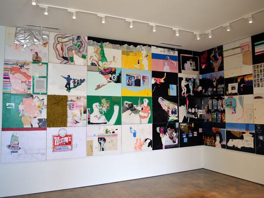 """""""The Retirement Party,"""" installation view."""