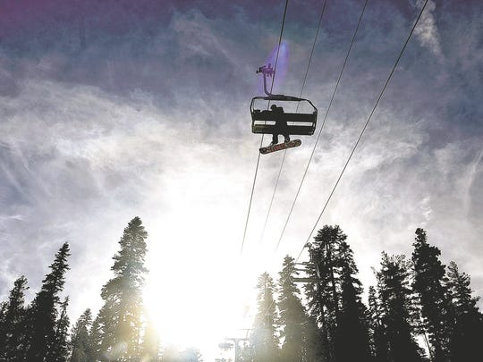A file photo of a chairlift at Northstar California.