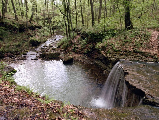 Rock Rest Falls at Calli Nature Preserve