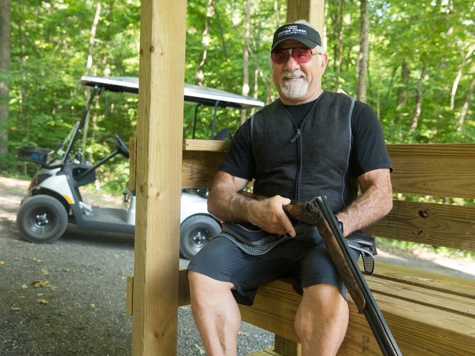 Cross Creek Clays owner Joseph Calabrace takes a moment