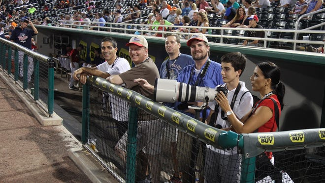 At our Journalism Camp with the Fort Myers Miracle you will get to spend time with News-Press photographers in the photo wells along with first and third base lines. It is the kind of VIP access that makes this event so unique.