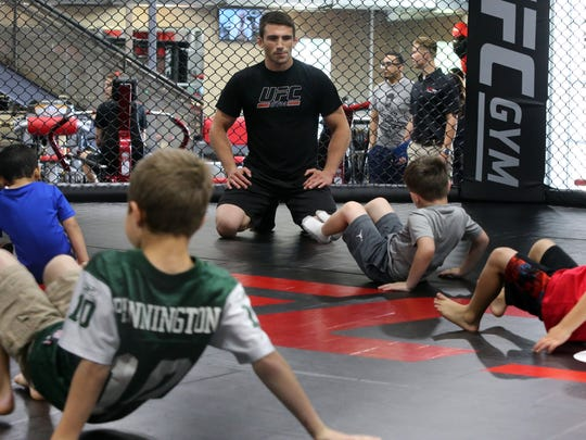 Grand opening of Toms River UFC fighter Frankie Edgar's new UFC Gym located in North Brunswick on Saturday June 11, 2016