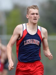 Lebanon's Derin Klick is the top seed in the AAA 800-meter
