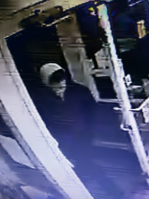 This photo shows the suspect in a robbery at Kreiser Fuel on Thursday, Jan. 25.