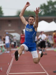 Philo's Carson Stottsberry placed sixth in the Division II boys long jump Friday at Jesse Owens Memorial Stadium in Columbus.