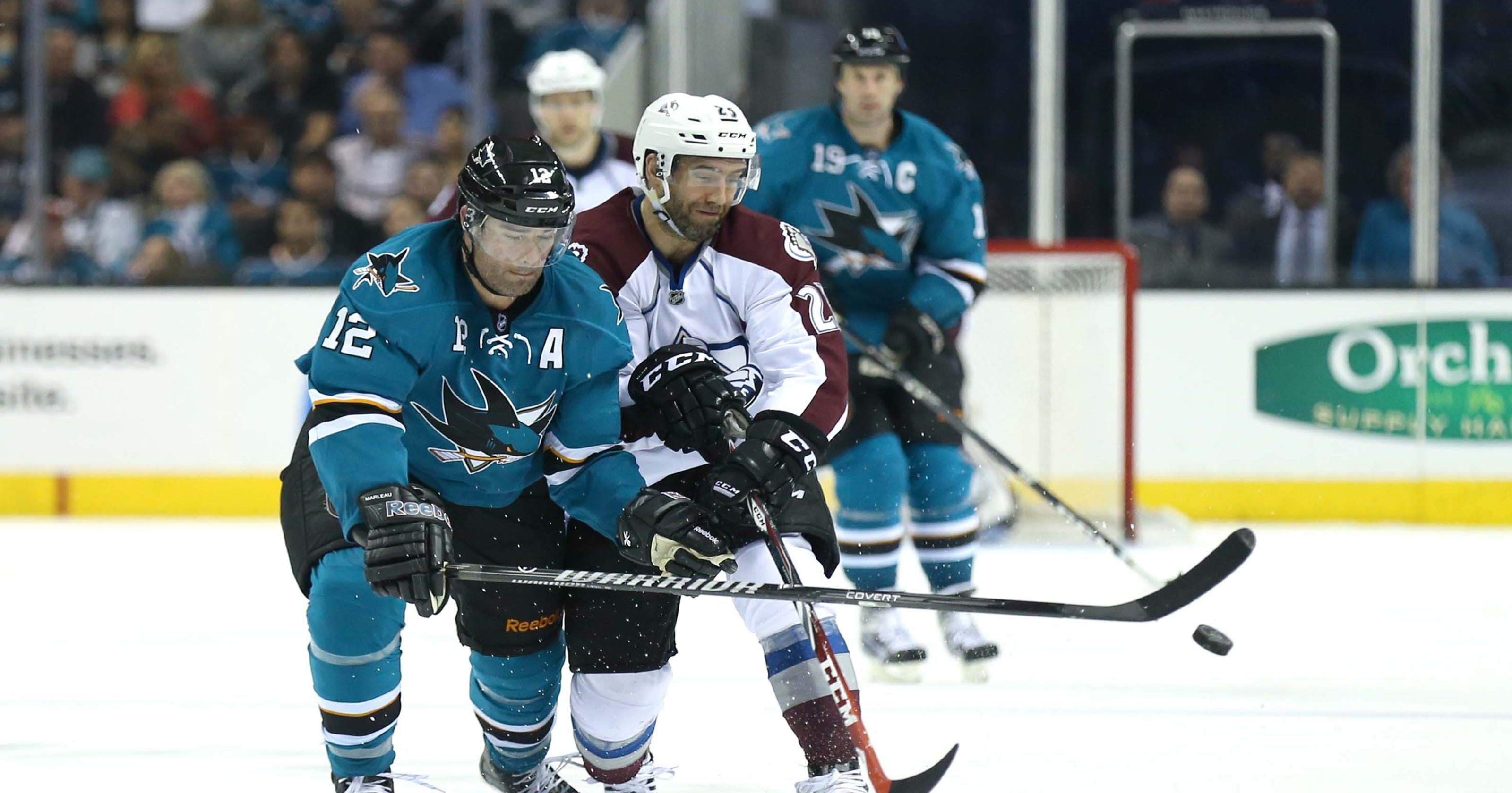 1b8b41d67bb Havlat scores hat trick in Sharks rout of Avalanche