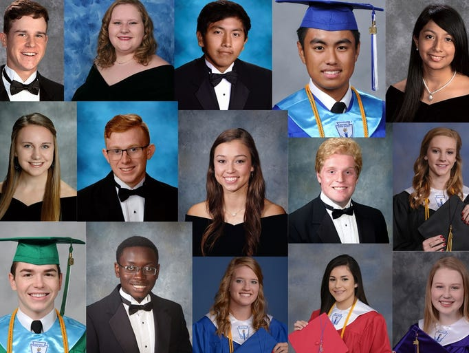 A selection of Class of 2018 valedictorians and salutatorians