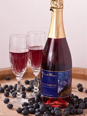 Known for its unique fruit wines, Tomasello Winery in Hammonton, N.J., produces a blueberry sparkling wine that features the local favorite. This 100% pure blueberry wine is made from cultivated high bush blueberries grown in vineyards nearby.