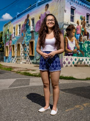 """'Cali' is a photograph by Den Sweeney, part of """"Look Again: The Young People of Camden' on exhibit at Rutgers-Camden's Stedman Gallery."""