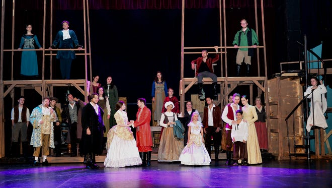 """A tale of two families during the French Revolution in Paris and London, """"A Tale of Two Cities: the Musical"""" returns to the Wichita Theatre at 7:30 p.m. tonight and Saturday and runs Thursdays, Fridays and Saturdays through Aug. 25."""