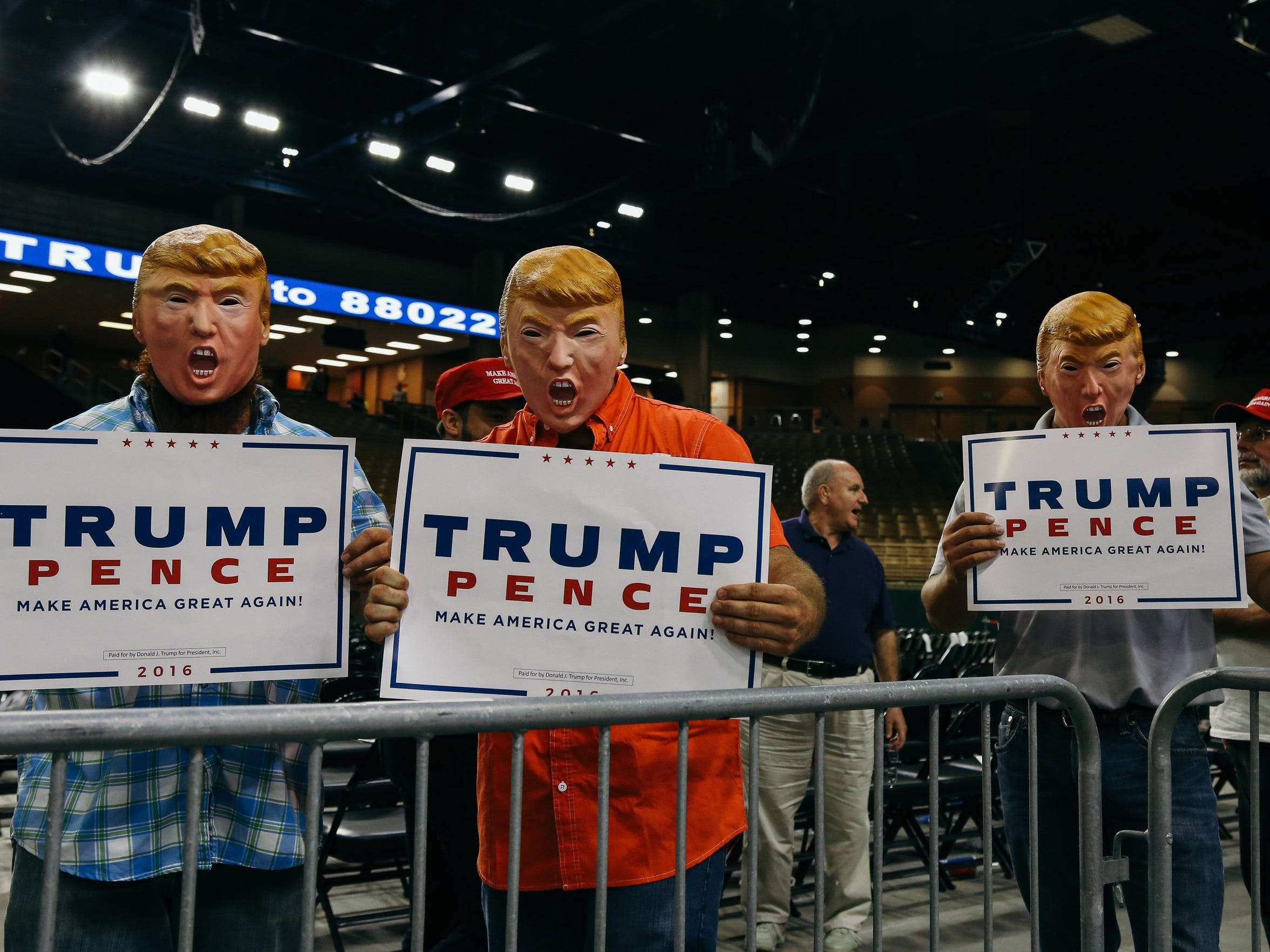 Donald Trumo held a rally at the Silver Spurs Arena in Kissimmee, Fla., on Thursday, August 11, 2016.
