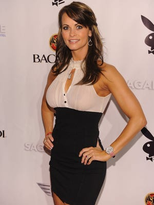Karen McDougal on Feb. 6, 2010, in Miami Beach, Fla.