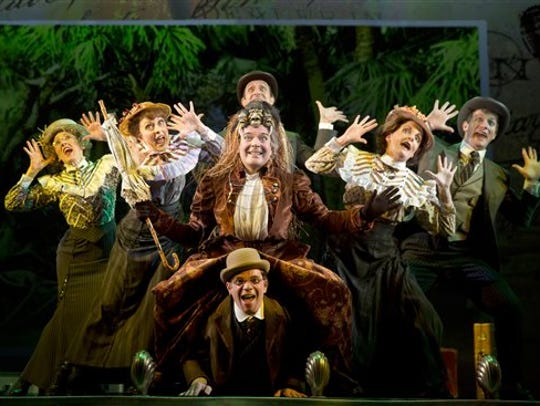 """A scene from the Broadway musical """"A Gentleman's Guide to Love & Murder."""" Florida Rep launches its own production of the dark comedy in its 2019-20 season."""