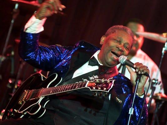Blues guitarist B.B. King