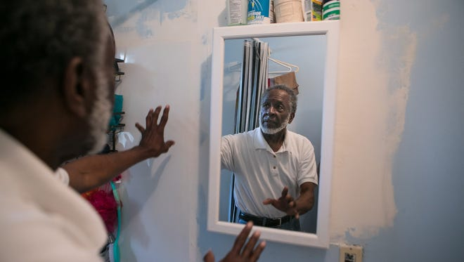 Willis Phelps, Jr., an 80-year-old Delaware Army National Guard veteran, said community volunteers promised to make a list of home repairs for him but left work uncompleted, including paint in his bathroom.