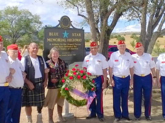 Members of the Marine Corps League Zia Detachment 850 of Lincoln and Otero Counties presented the colors.