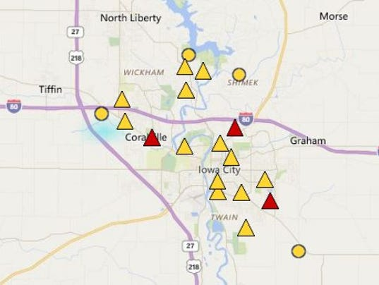 Power Restored After 2 Hour Iowa City Area Outage Leaves